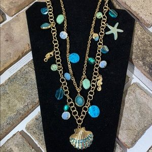 Macy's Shell and Stone Charm Necklace